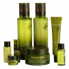 Набор с экстрактом алоэ вера WELCOS Puretem Purevera 3 Items Set 130мл*130мл*50мл*25мл*15мл*15мл*5мл*5мл