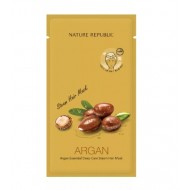 Маска для волос восстанавливающая с арганой NATURE REPUBLIC ARGAN ESSENTIAL DEEP CARE STEAM HAIR MASK 30 мл