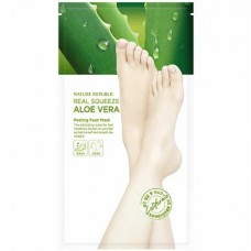 Пилинг-маска для ног с экстрактом алоэ NATURE REPUBLIC REAL SQUEEZE ALOE VERA PEELING FOOT MASK 25 гр*2 шт