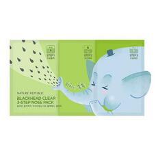 Набор для сужения и очищения пор носа NATURE REPUBLIC BLACKHEAD CLEAR 3-STEP NOSE PACK(7EA)