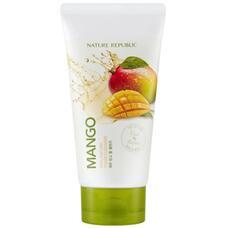 Пенка для умывания с экстрактом манго NATURE REPUBLIC REAL NATURE MANGO FOAM CLEANSER(R) 150 мл