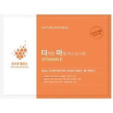 Маска тканевая для чувствительной кожи NATURE REPUBLIC REAL COMFORTING MASK SHEET VITAMIN E 24 гр