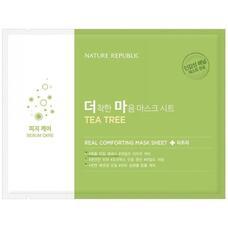 Маска тканевая для чувствительной кожи NATURE REPUBLIC REAL COMFORTING MASK SHEET TEA TREE 24 гр