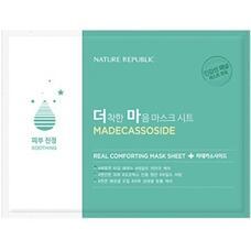 Маска тканевая для чувствительной кожи NATURE REPUBLIC REAL COMFORTING MASK SHEET MADECASSOSIDE 24 гр