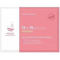 Маска тканевая для чувствительной кожи NATURE REPUBLIC REAL COMFORTING MASK SHEET [AHA/BHA] 24 гр