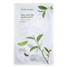 Маска для лица листовая NATURE REPUBLIC REAL NATURE GREEN TEA MASK SHEET 23 гр