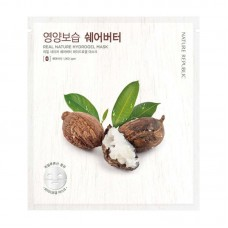 Маска для лица гидрогелевая NATURE REPUBLIC REAL NATURE SHEA BUTTER HYDROGEL MASK 22 гр