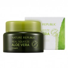 Крем для лица с экстрактом алоэ вера NATURE REPUBLIC REAL SQUEEZE ALOE VERA CREAM 50 мл