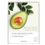 Маска тканевая с экстрактом авокадо JUNGNANI REAL FRESH TROPICAL MASK AVOCADO 25 мл