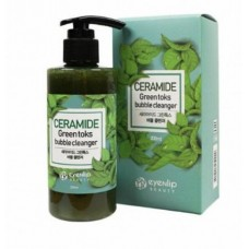 Пенка кислородная для умывания EYENLIP CERAMIDE GREEN TOKS BUBBLE CLEANSER 200 мл