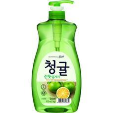 Концентрированное средство для мытья посуды LION Chamgreen Зеленый цитрус флакон, 965 мл