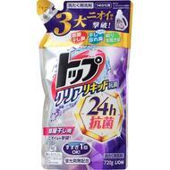 Жидкое средство для стирки с антибактериальным эффектом LION ТОП мягкая упаковка 720 гр