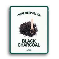 Маска для лица тканевая с древесным углем для сужения пор  A'PIEU Pore Deep Clear Black Charcoal Mask 25 гр