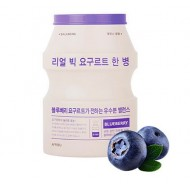 Маска для лица тканевая йогуртная Real Big Yogurt One Bottle (Blueberry)