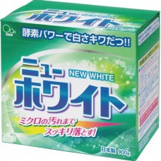 Стиральный порошок Mitsuei New White с отбеливателем и ферментами для удаления стойких загрязнений 0,9 кг
