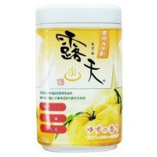 Соль для ванны Fuso Kagaku с бодрящим эффектом и ароматом юдзу (банка 700 г)