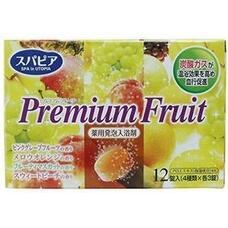 Соль для ванны Fuso Kagaku Premium Fruits на основе углекислого газа с тонизирующим эффектом и ароматом сочных фруктов (12 таблеток х40 гр.)