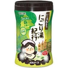 Увлажняющая соль для ванны Hakugen Earth Банное путешествие с восстанавливающим эффектом (с ароматом леса), банка 600 гр
