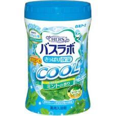 Увлажняющая соль для ванны Hakugen Earth HERS Bath Labo COOL с освежающим эффектом с гиалуроновой кислотой и витамином С (с ароматом мяты), банка 640 гр