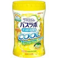 Увлажняющая соль для ванны Hakugen Earth HERS Bath Labo COOL с освежающим эффектом с гиалуроновой кислотой и витамином С (с ароматом грейпфрута), банка 640 гр