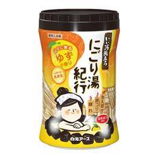 Увлажняющая соль для ванны Hakugen Earth Банное путешествие с восстанавливающим эффектом (с ароматом юдзу), банка 600 гр
