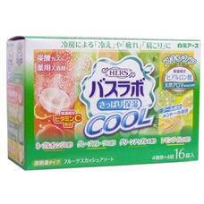 Освежающая соль для ванны Hakugen Earth HERS Bath Labo COOL с охлаждающим эффектом на основе углекислого газа с гиалуроновой кислотой и витамином С (с ароматами апельсина, грейпфрута, зеленого яблока, лайма), 45 гр. х 16 табл