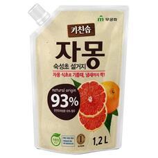 Премиальное антибактериальное средство MUKUNGHWA для мытья посуды, овощей и фруктов  в холодной воде Сочный гейпфрут МУ 1,2 л