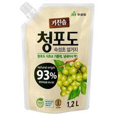 Премиальное дезодорирующее средство MUKUNGHWA д/мытья посуды, овощей и фруктов в холодной воде Зеленый виноград МУ 1,2 л
