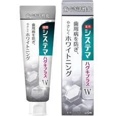 Зубная паста для профилактики болезней десен и придания белизны зубам со вкусом трав Lion Dentor Systema gums plus White 95 г