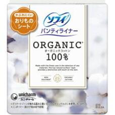 UNICHARM Organic 100% Натуральные ежедневные гигиенические прокладки из био-хлопка 52 шт