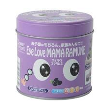Mama Ramune Eye love Детские жевательные витамины для здоровья глаз с черникой и аргинином № 200