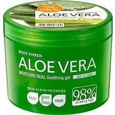 Гель для тела успокаивающий WELCOS Aloe vera Moisture Real Soothing Gel 500 мл