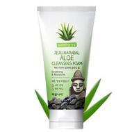 Пенка для умывания WELCOS Jeju Natural Aloe Cleansing Foam 120 гр