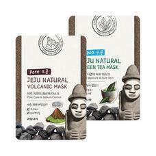 Маска для лица успокаивающая WELCOS Jeju Nature's Green Tea Mask 20 мл