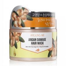 Маска для поврежденных волос WELCOS Around me Argan Damage Hair Mask 300 гр