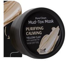 Маска для лица с каолиновой глиной The YEON Pore Clean Mud-Tox Mask Yellow 80 гр