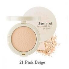 Пудра компактная ароматизированная 21т THE SAEM Sammul Perfume BB Pact SPF25 PA++ 21. Pink Beige 20гр