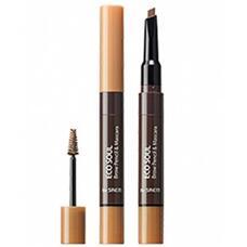Тушь- карандаш для бровей THE SAEM Eco Soul Brow Pencil & Mascara 01 Light Brown 0,2гр/2,5мл