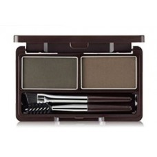 Пудра для бровей 02 THE SAEM Eco Soul Eyebrow Kit 02 Gray Brown 2*2.5гр