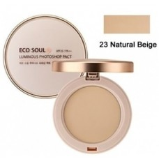 Пудра компактная золотая 23 тон THE SAEM Eco Soul Luxury Gold Pact 23 Natural Beige 9гр