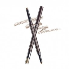 Карандаш-пудра для бровей THE SAEM Eco Soul Pencil & Powder Dual Brow 01. natural brow 0,5гр*0,3гр