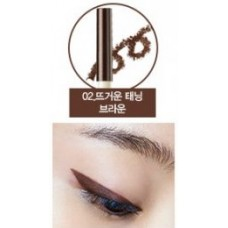 Карандаш для глаз водост. гелевый 02 THE SAEM Eco Soul Waterproof Gel eyeliner 02 Hot tanning brown 0,5гр