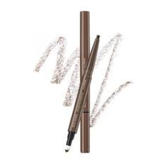 Карандаш для бровей 3 в 1 THE SAEM Eco Soul Designing Eyebrow 01 Brown 0,2гр+0,12гр