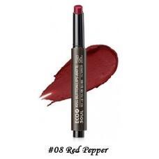Помада для губ матовая 08 THE SAEM Eco Soul Kiss Button Lips Matte 08 Red Pepper 2гр