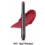 Помада для губ матовая 05 THE SAEM Eco Soul KISS Button Lips Matte 05 Red Warmer 2гр