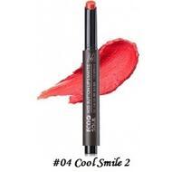 Помада для губ матовая 04 THE SAEM Eco Soul KISS Button Lips Matte  04 Cool Smile 2 2гр