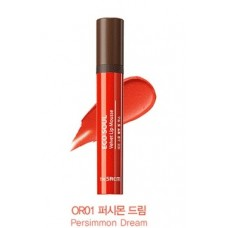 Мусс для губ THE SAEM Eco Soul Velvet Lip Mousse OR01 Persimmon Dream 5,5гр