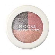 Тени для век тройные THE SAEM Eco Soul Triple DomeShadow CR01Unforgettable Coral 6,5гр