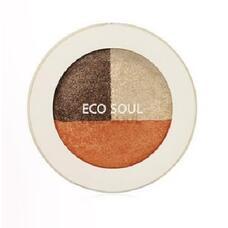 Тени для век тройные THE SAEM Eco Soul Triple Dome Shadow OR01Sniper Mode Orange 6,5гр