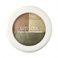 Тени для век тройные THE SAEM Eco Soul Triple Dome Shadow KH01 Deeply Moved Khaki 6,5гр